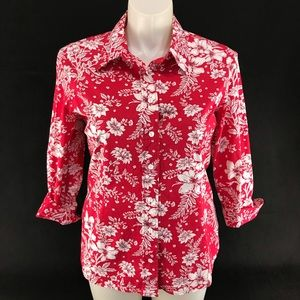 Coldwater Creek Floral Shirt